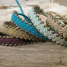 Micro macrame bracelets in five different colors to choose from. Handmade using durable waxed polyester thread and brass beads. These bracelets look perfect as layering or stand alone pieces. ****************************************** The bracelet closure is adjustable so it can fit