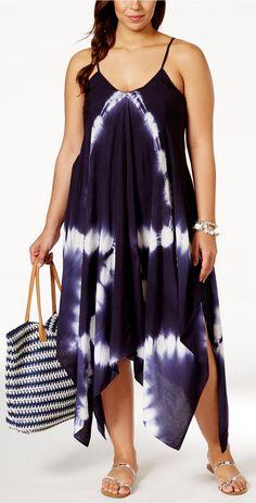 b503b7c4a2c3 Plus Size Tie-Dye Dress Plus Size Summer Fashion