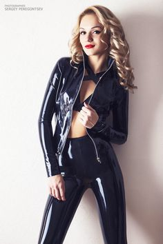 Latex jacket and leggings