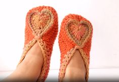 How To Crochet Slippers For Valentine's Day