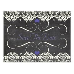Eat, Drink and Save the Date Chalkboard Postcard   chalkboard save ...