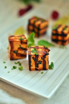 Grilled Chilli Paneer Cubes | Easy Starter Recipe | Bachelor's Cooking | Gluten Free | Finger Food | Step Wise