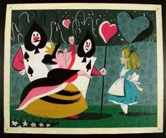 Mary Blair - Alice in Wonderland concept art Mary Blair, Alice In Wonderland 1951, Adventures In Wonderland, Glenn Arthur, Disney Artists, Disney Concept Art, Disney Animation, Vintage Disney, Disney Magic