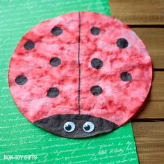 Make A Gorgeous Coffee Filter Ladybug Craft With Kids This Spring Simple That