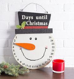 Indoor/Outdoor Hanging Snowman Advent Calendar