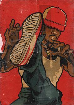 """Shaolin's the DJ who we call conductor. The morning's best fan art via Arte Do Hip Hop, Hip Hop Art, Image Swag, The Get Down, Black Cartoon, Street Dance, Afro Art, Best Fan, Dope Art"