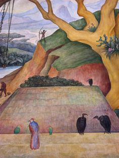 Diego Rivera mural, Palacio Nationale, by summer 1961 Diego Rivera, Latin Artists, Mexican Artists, Statues, Frida And Diego, Spanish Art, Mural Painting, Art Plastique, Oeuvre D'art