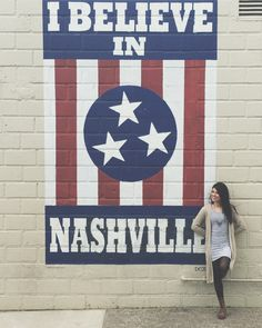 I Believe in Nashville Mural | 12 South Dentail | @theanastasiaco