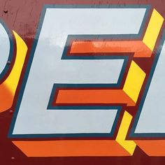 E from the side of a vintage fairground truck Sign Writing, Hand Painted Signs, Hand Lettering, Workshop, Symbols, Letters, Instagram Posts, Truck, Painting
