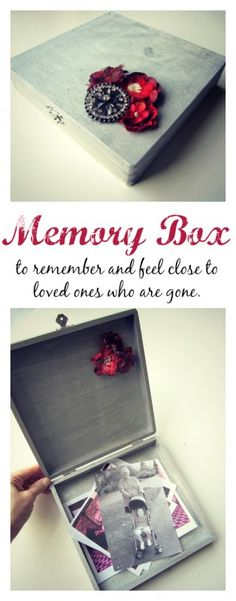 This easy to make box is a perfect way to preserve the memories of a loved one, especially one who's left us too soon. from @Allison j.d.m @ No Time For Flash Cards #grief #CraftersRAK