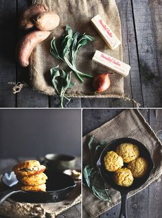 Sweet Potato Biscuits. These look amazing.