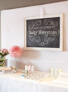 Cute chalkboard for baby shower