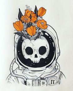 Un dibujo mas (*-*) vegan cakes dublin 2 - Vegan Cake Art And Illustration, Astronaut Illustration, Halloween Illustration, Cute Drawings, Drawing Sketches, Tumblr Art Drawings, Skull Drawings, Space Drawings, Drawing Drawing
