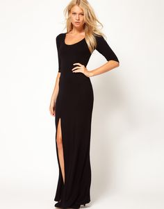 Love Maxi Dress with Side Slit-Elegant yet sexy and only $49!! On my shopping list!