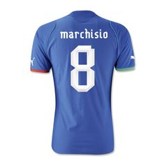 2013-14 Italy Home Shirt (Marchisio 8) #Sport #Football #Rugby #IceHockey