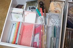Noell Hyman's Project Life embellishment drawer. For more on this go here: http://www.paperclipping.com/paperclipping-258-organization-for-making-and-using-kits/
