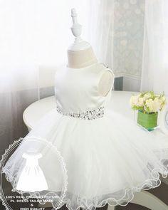Concurso glitz de niño vestido con Bling Bling vestido marfil