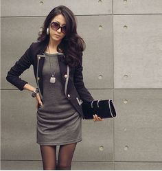 Cool work outfit for office ladies. Perfect style for fall wardrobe.