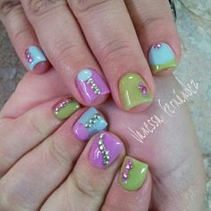 Day 331: Fun Colorblock Nail Art www.nailsmag.com