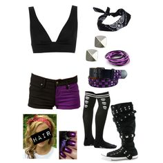 """Ring Attire For a Match Against Naomi"" by alyssaclair-winchester on Polyvore"
