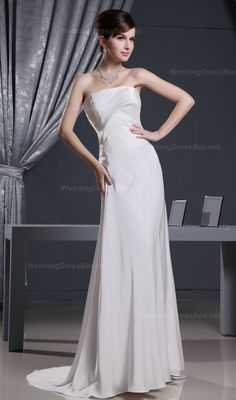 Graceful Simple Strapless Pleated Dress