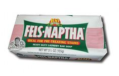 The Fels-Naptha soap is the best stain remover. Simply wet the bar and rub on stain, clothes, carpet, anything. Diy Cleaning Products, Cleaning Solutions, Cleaning Hacks, Cleaning Supplies, Household Products, Diy Products, Natural Products, Diy Cleaners, Cleaners Homemade