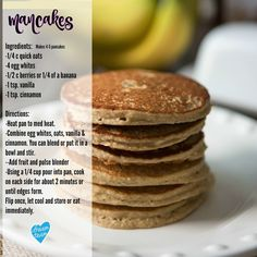 mancakes, clean eating pancakes, healthy breakfast recipes, pancakes, high protein breakfast