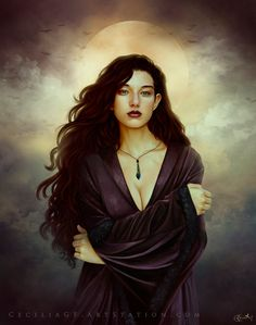 Medieval fantasy - Elaine, Cecilia G. Gothic Fantasy Art, Medieval Fantasy, Fantasy Girl, Fantasy Artwork, Dark Fantasy, Fantasy Witch, Character Portraits, Character Art, Fantasy Characters