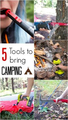 5 essential tools to bring camping to make life easier.