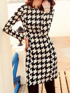 Love this Houndstooth Dress
