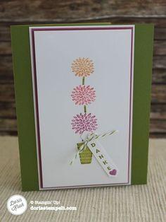 Vertical Greetings | Dankeskarte mit dem Stempelset Vertikale Grüße - Doris stempelt in HandewittDoris stempelt in Handewitt