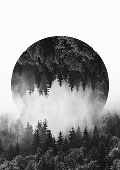 Mountain Wall Art, Forest Print, Black and White Prints, High Quality Art Paper, Large Size Available - Kunst White Photography, Nature Photography, Wallpaper Harry Potter, Foggy Mountains, Poster Design, Print Poster, Black And White Prints, Black White, Aesthetic Wallpapers