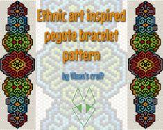 Peyote bracelet pattern odd count peyote pattern peyote