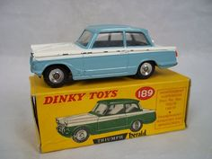 Dinky Toys No.189 Triumph Herald - Boxed - Pale Blue