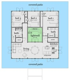 Unique House Plan With Rooftop Gardens