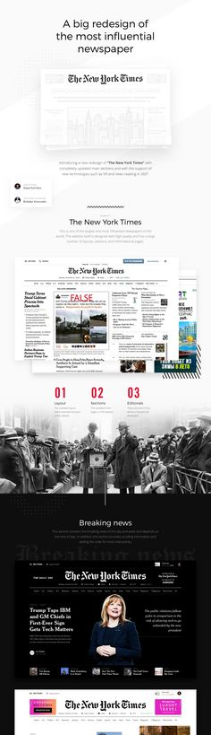 Editorial Design: The New York Times Redesign Concept