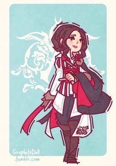 Genderbent Ezio Auditore - GraphiteDoll Tumblr