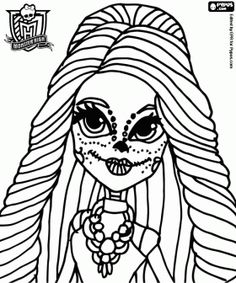Free Printable Monster High Coloring Pages For Kids See More Skelita Calaveras A Mexican Girl Daughter Of The Skeletons Page