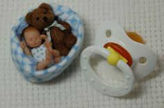 OOAK Baby Carter baby artdoll by  Kimbra Conger Silver Dimples Nursery