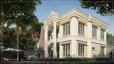 """22 Suka, 1 Komentar - Azhar (@azmydesign) di Instagram: """"Rumah 2 lantai dengan Luas tanah kurang lebih 185m2 di hook dengan bentuk tanah yang tidak persegi,…"""" Home Fashion, House Design, Mansions, House Styles, Home Decor, Decoration Home, Manor Houses, Room Decor, Villas"""