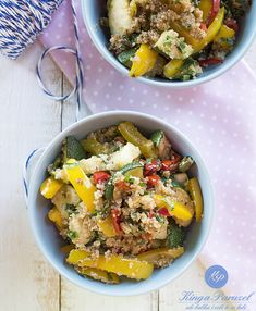 Komosa i grillowane warzywa