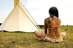 Hippie Indian Tattoo Tattoos Back Girls Ideas Inspirational
