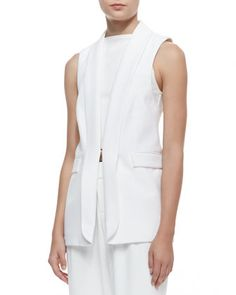 Alice + Olivia Tux Vest, White, on sale....184$