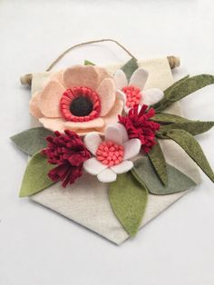 Mini Felt Wildflower Banner  Valentine's Day