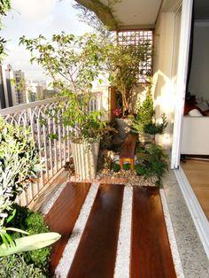 Paisagismo varanda de apartamento jardim japonês