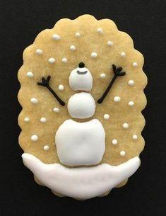 Snowman Scene Cookie