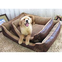 Pet-SAN Cat / Dog Bed Pet Mats and Pads Square Plush / Fabric Brown / Beige , s ** Check this useful article by going to the link at the image. #CatBedsandBlankets
