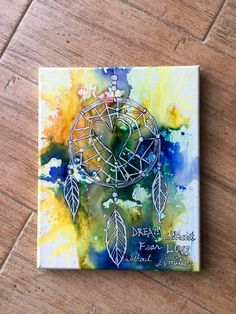 8x10 Dream without fear love without limits dreamcatcher art