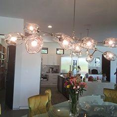 10 Globe Staccato Branch Chandelier Handmade in USA! Branch Chandelier, Bow Light, Bronze Finish, Glass Art, Globe, Bulb, Ceiling Lights, Lighting, Antiques