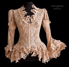 blouse blush lace, Somnia Romantica by M. Turin by SomniaRomantica on DeviantArt Beautiful Gowns, Beautiful Outfits, Blouse Dress, Lace Dress, Lace Outfit, Romantic Lace, Lolita Dress, Stretch Lace, Vintage Lace